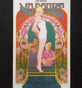 No Doubt Gwen Stefani коллекционный постер ориг.