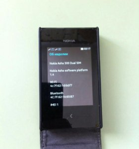 Nokia Asha 500 dual sim black  + подарок