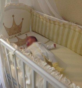 Кроватка детская + ортопедический матрас