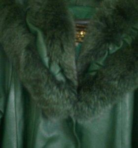 Пальто кожаное 52-58