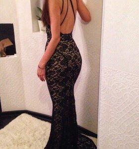 Гипюровое Платье, со шлейфом/новое