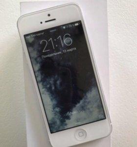 iPhone 5 16gb white б/у