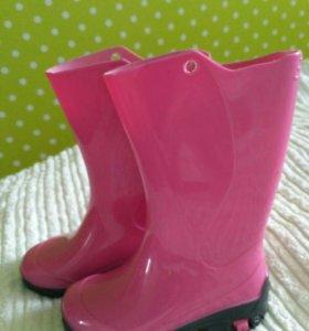 Резиновые сапоги на девочку 23-24 размер Nordman