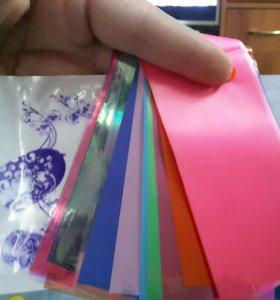Фольга для дизайна ногтей - набор из 15 цветов