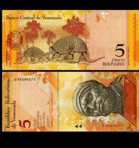 Банкнота Венесуэла 5 Боливара