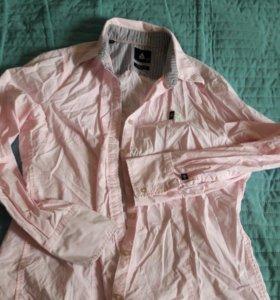 Стильная розовая рубашка 46'48