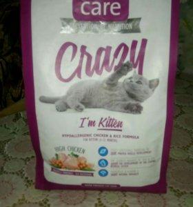 """Корм Brit Care """"Crazy"""" для котят, беременных"""