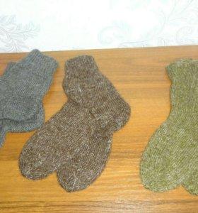 Носки шерстяные 43-45, 50%копий пух + 50% шерсть