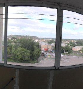 Балконная алюминиевая рама купе