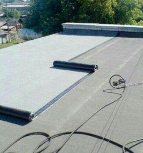 Ремонт крыши мягкая кровля наплавление горелкой