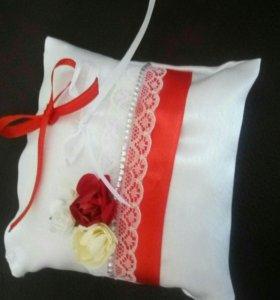 Подушка для свадебных колечек и не только