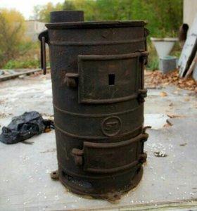 Печка буржуйка ПОВ-57 Чугунная