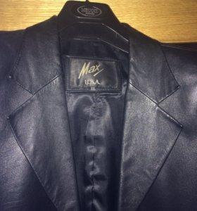 Фирменный кожаный пиджак