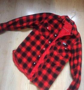 Блузка кофта накидка клетчатая рубашка