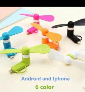 Портативный Micro USB Вентилятор Для iPhone 5 6