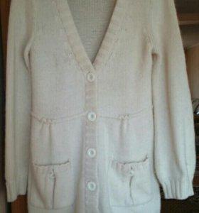 Кофта. Пуловер. Кардиган. Шерсть. 46-48 размер