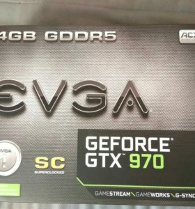 Видеокарта EVGA GTX 970 superclocked