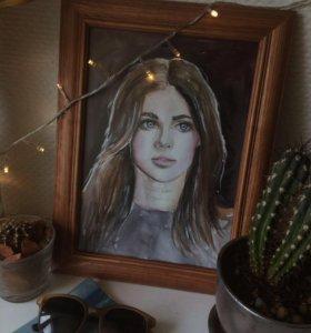 Акварельный портрет по фото