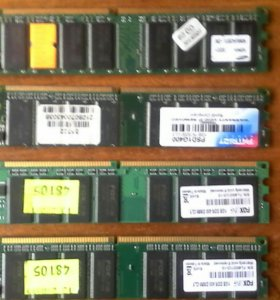 Память оперативная DDR 1 Gb DIMM (SDRAM 400 MHz)