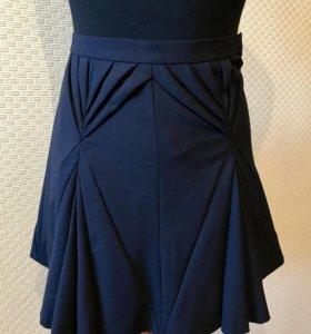 Новая Дизайнерская юбка темно синяя