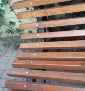 Скамейка натуральное дерево