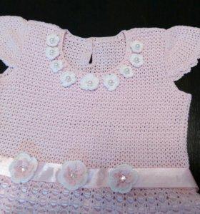 Нарядное платье для девочки (вязаное крючком)