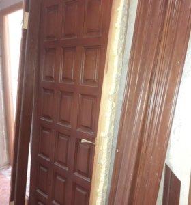 Продам входную дверь б/у, в хорошем состоянии