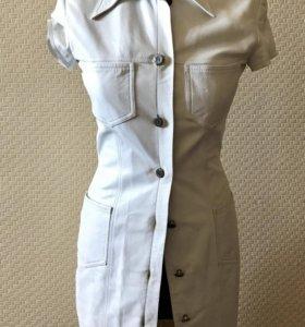 Новое Кожаное платье или удлинённый жакет