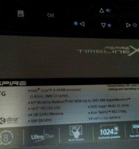 Игровой ноут,Acer TimlineX 4820 TG