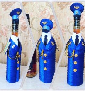 Бутылка лентами