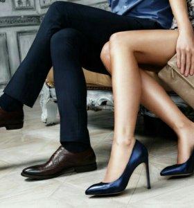 Туфли из натуральной кожи,фирма Alba,р.39