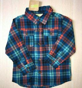 18-24м Crazy8 (США) Новая рубашка для мальчика син