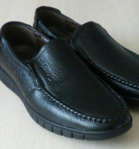 Ботинки мужские новые,кожа