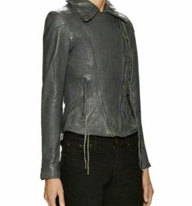 Новая серая кожаная куртка Muubaa