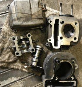 Для GY6 157QMJ скутер двигатель запчасти