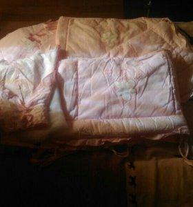 Комплект в кроватку(бортики+балдахин)