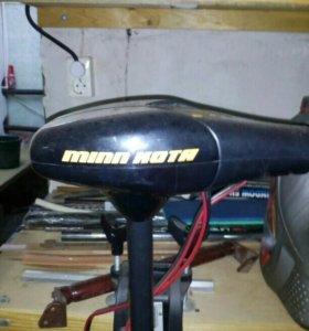 Электро мотор лодочный минкота30 + аккумулятор 75