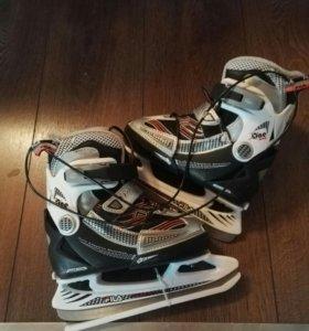 НОВЫЕ Хоккейные коньки FILA +клюшка