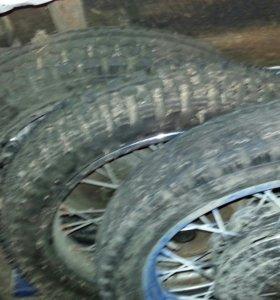 Колеса на мото урал 3 колеса новые за все три .т