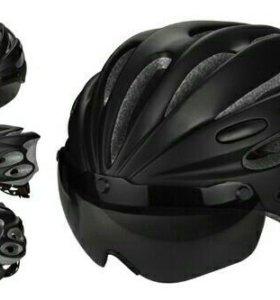 Велошлем GUB с очками(визором)