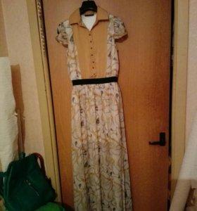 Платье в пол 42-44 почти новое