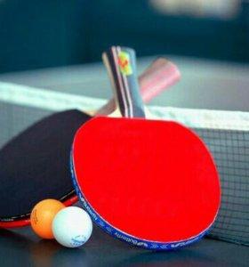 Спаринг по настольному теннису.