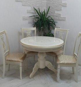 Стол обеденный круг 1 м диаметр не раздвижной
