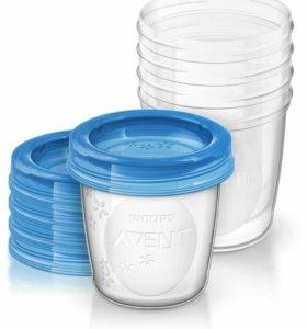 Контейнеры для хранения грудного молока новые