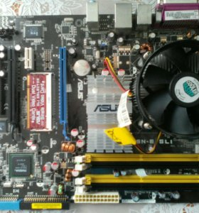 Мат.плата ASUS P5N-E SLI+HDD диск+2 IDE шлейфа