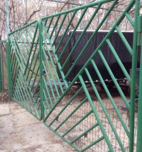Продам ворота калитку столбы