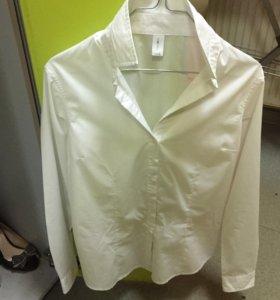 Блуза белая L