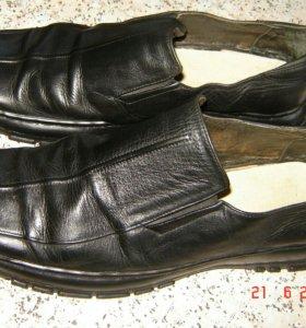 Туфли из натуральной кожи на широкую ногу