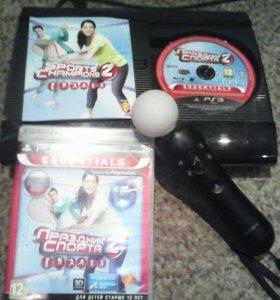 PlayStation3 + PS Move + PS Eye + 4 игры