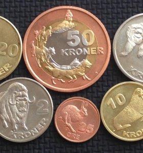Калааллит Нуннат (Гренландия) 8 монет 2010г